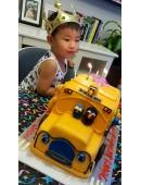 3D Elmo Bus Cake Design