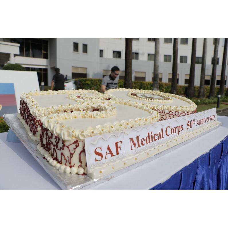 Corporate 50 Cake Design